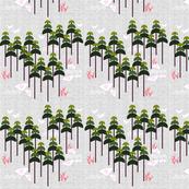 Pink Planet Flight Plan Green Trees