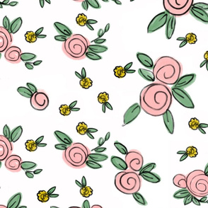 Averie Floral in Pink and Yellow