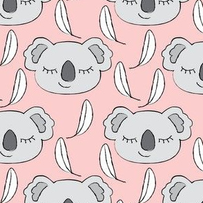 grey koalas on pink