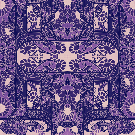 All Hail Queen Victoria (purple/pink) fabric by edsel2084 on Spoonflower - custom fabric