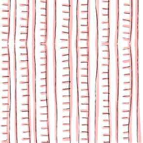 Painted stripes in Pink