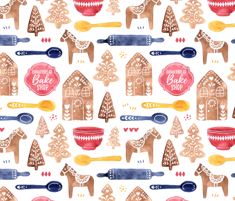 Gingerbread Bake Shop fabric by hayleypatten on Spoonflower - custom fabric