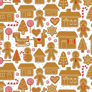 gingerbread village (white)