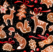 woodland gingerbread - black