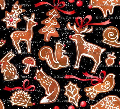 woodland gingerbread - black