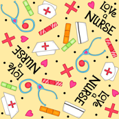 Love a Nurse Yellow