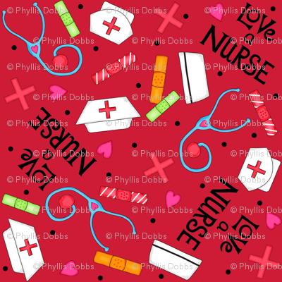 Love a Nurse Red