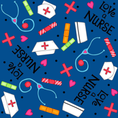Love a Nurse Navy Blue