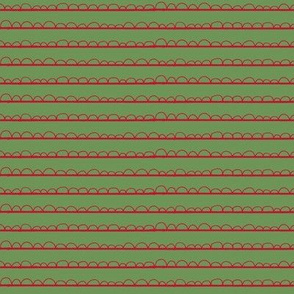 Christmas frilly stripe