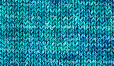 Blue Green Knit