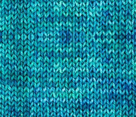 Blue Green Knit fabric by rlongman on Spoonflower - custom fabric