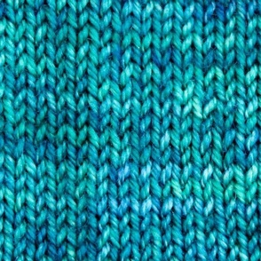 Blue Green Knit