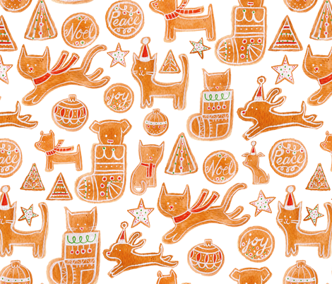 Holiday Cookies - © Lucinda Wei fabric by lucindawei on Spoonflower - custom fabric