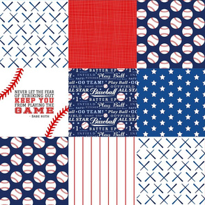 Baseball wholecloth Cheater Quilt