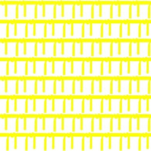 One Inch Martial Arts Yellow Belt on White