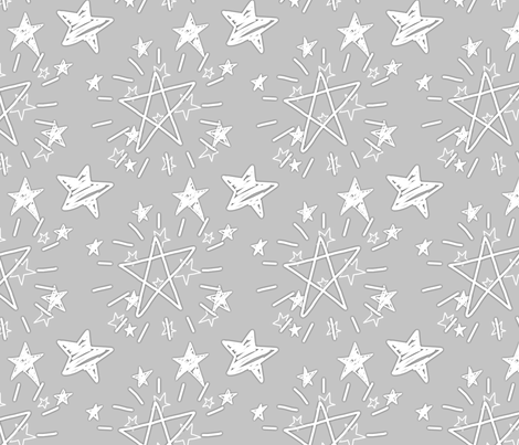 Starry Gray Print fabric by espressochange-o on Spoonflower - custom fabric
