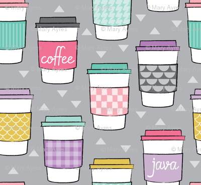 coffee cups-with-sleeves on grey