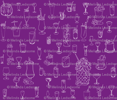 Cocktail Hour on Purple