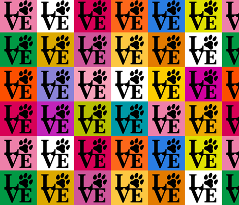 Dog Paws Pop Art fabric by mariafaithgarcia on Spoonflower - custom fabric