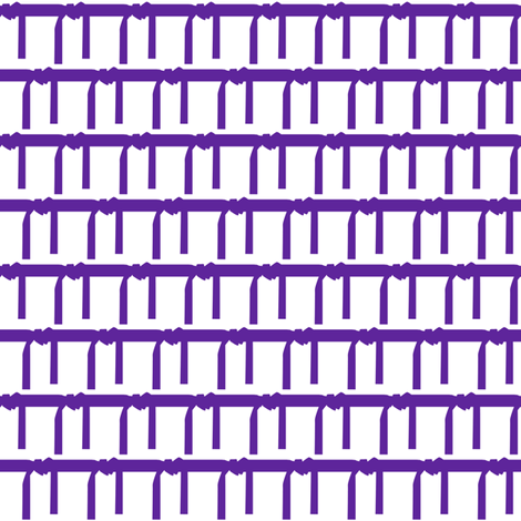 One Inch Martial Arts Purple Belt on White fabric by mtothefifthpower on Spoonflower - custom fabric