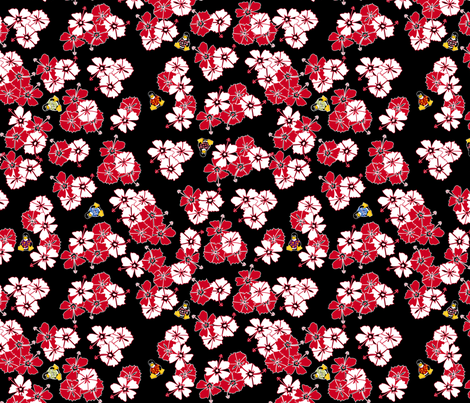Black Hawaiian Solid Penguins fabric by casualtux on Spoonflower - custom fabric