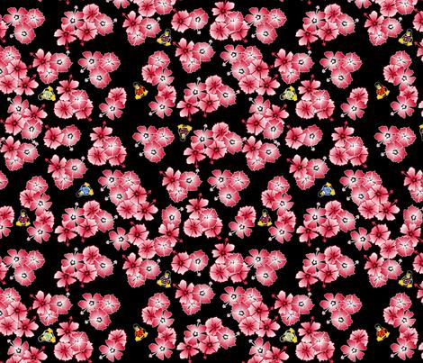 Black Hawaiian Multi1 Penguins fabric by casualtux on Spoonflower - custom fabric