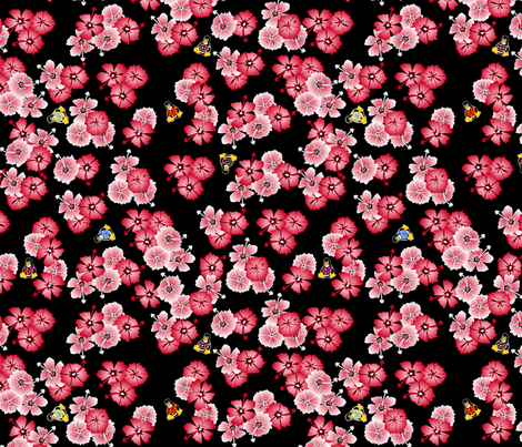 Black Hawaiian Multi2 Penguins fabric by casualtux on Spoonflower - custom fabric