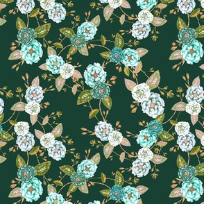 OrientRoses_Turquoise and Evergreen