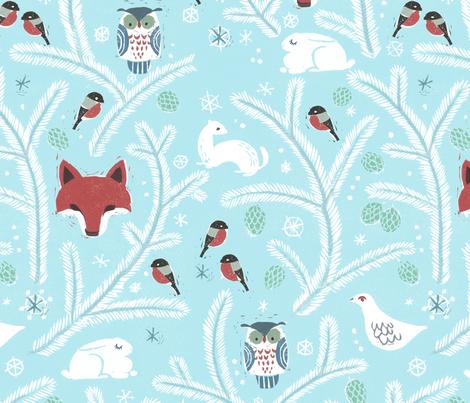 Scandinavian Winter fabric by mirkahokkanen on Spoonflower - custom fabric