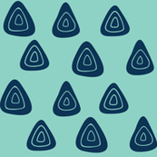 Geometry of blue triangles