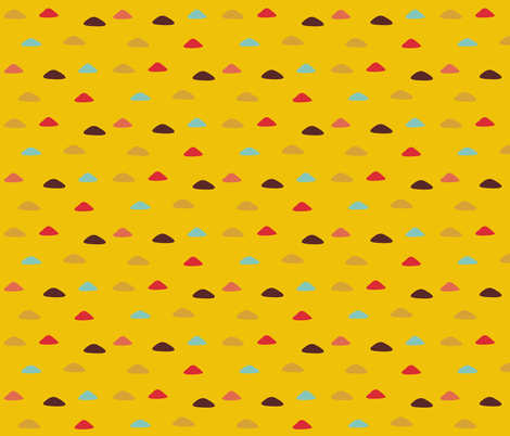 Yellow field of colored triangles fabric by toy_joy on Spoonflower - custom fabric