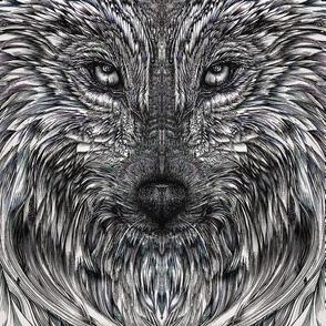 Mirrored Wolf