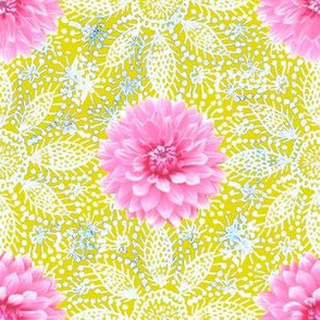 Rustic_pink_Dahlia_white_lace_yellow