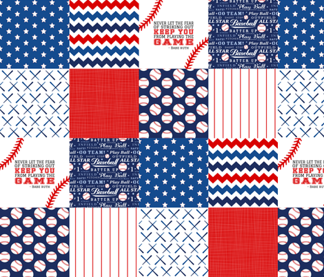 4.5 In Baseball Wholecloth Cheater quilt fabric by longdogcustomdesigns on Spoonflower - custom fabric