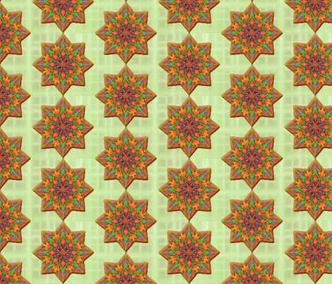 Gingerbread Stars fabric by fireflower on Spoonflower - custom fabric