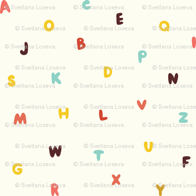 Funny colored letters