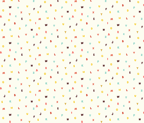 Funny colored letters fabric by toy_joy on Spoonflower - custom fabric