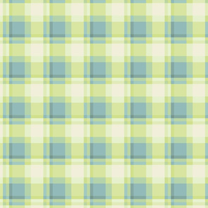 pistachio citrus cyan plaid