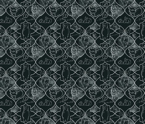 WoodlandCells_Chalk_6in fabric by 2catdesign on Spoonflower - custom fabric