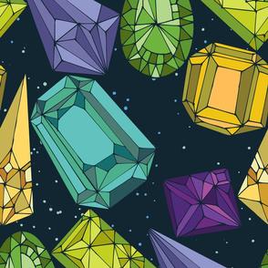 Night Gemstones - large scale