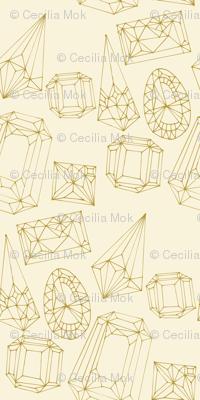 Gemstones Gold Lines