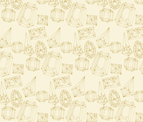 Gemstones Gold Lines fabric by ceciliamok on Spoonflower - custom fabric