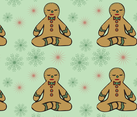 Yogi Gingerman fabric by 2329_design on Spoonflower - custom fabric