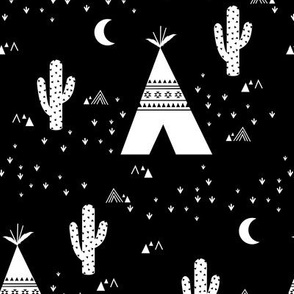 Teepee - Black Background