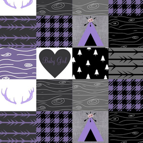 Purple baby girl - tipi wholecloth