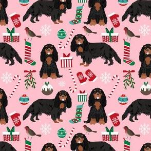 cavalier black and tan christmas fabric cavalier king christmas fabrics xmas dog dogs cute xmas fabrics