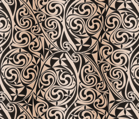 Celtic Warlord carbon fabric by spellstone on Spoonflower - custom fabric