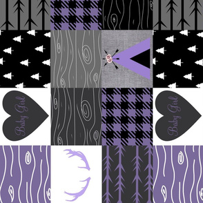 Purple baby girl - tipi wholecloth - rotated
