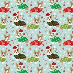 corgi sweaters christmas dog fabric custom