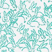 turquoise bunnies bunny rabbits aqua blue green bunnies
